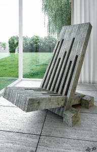 Chaise-bois-de-palette