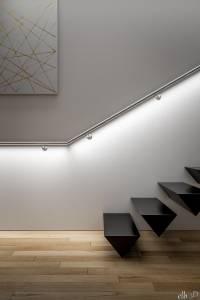 Eclairage LED sous main courante