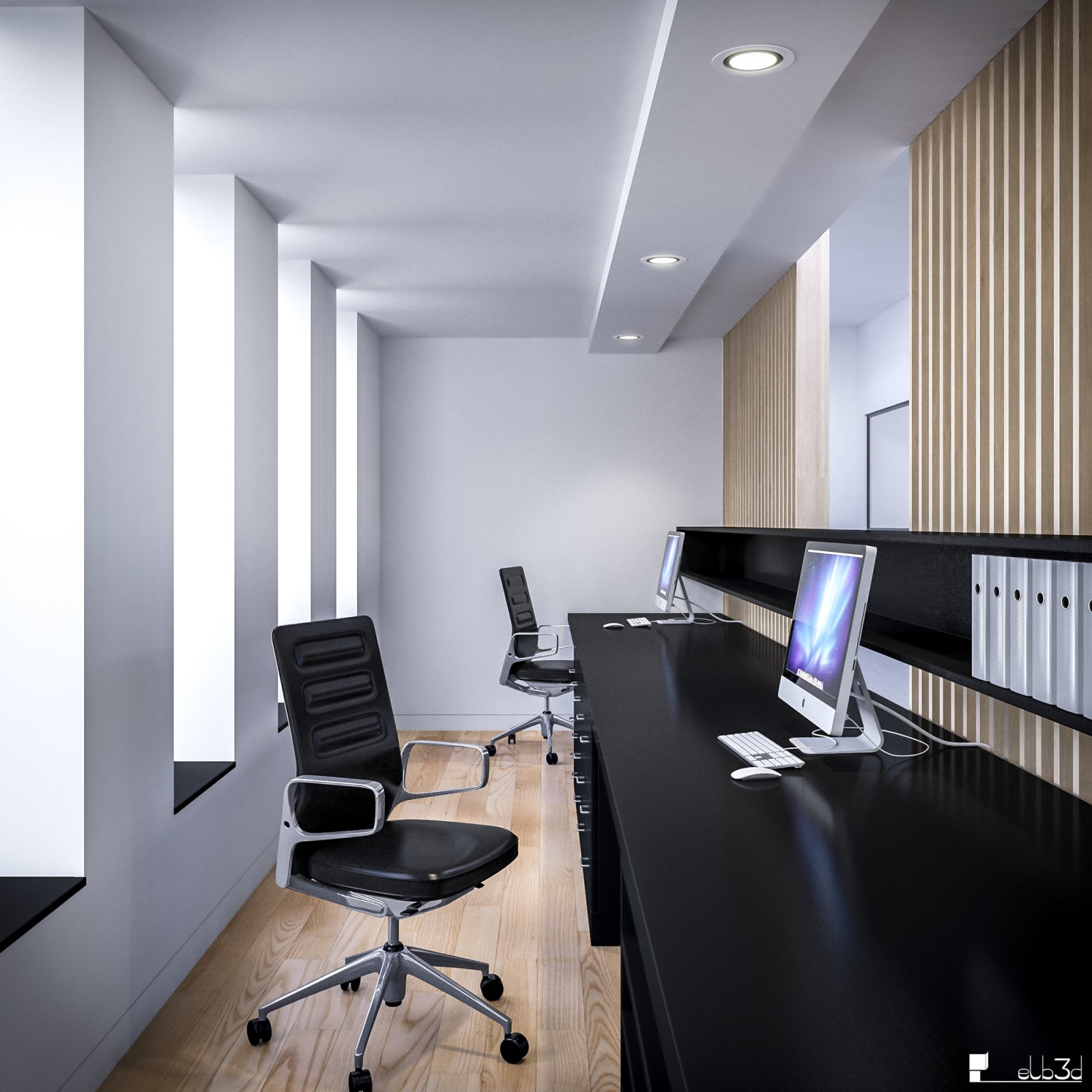 Elb3d architecture design infographiste 3d freelance rennes - Agencement bureau design ...