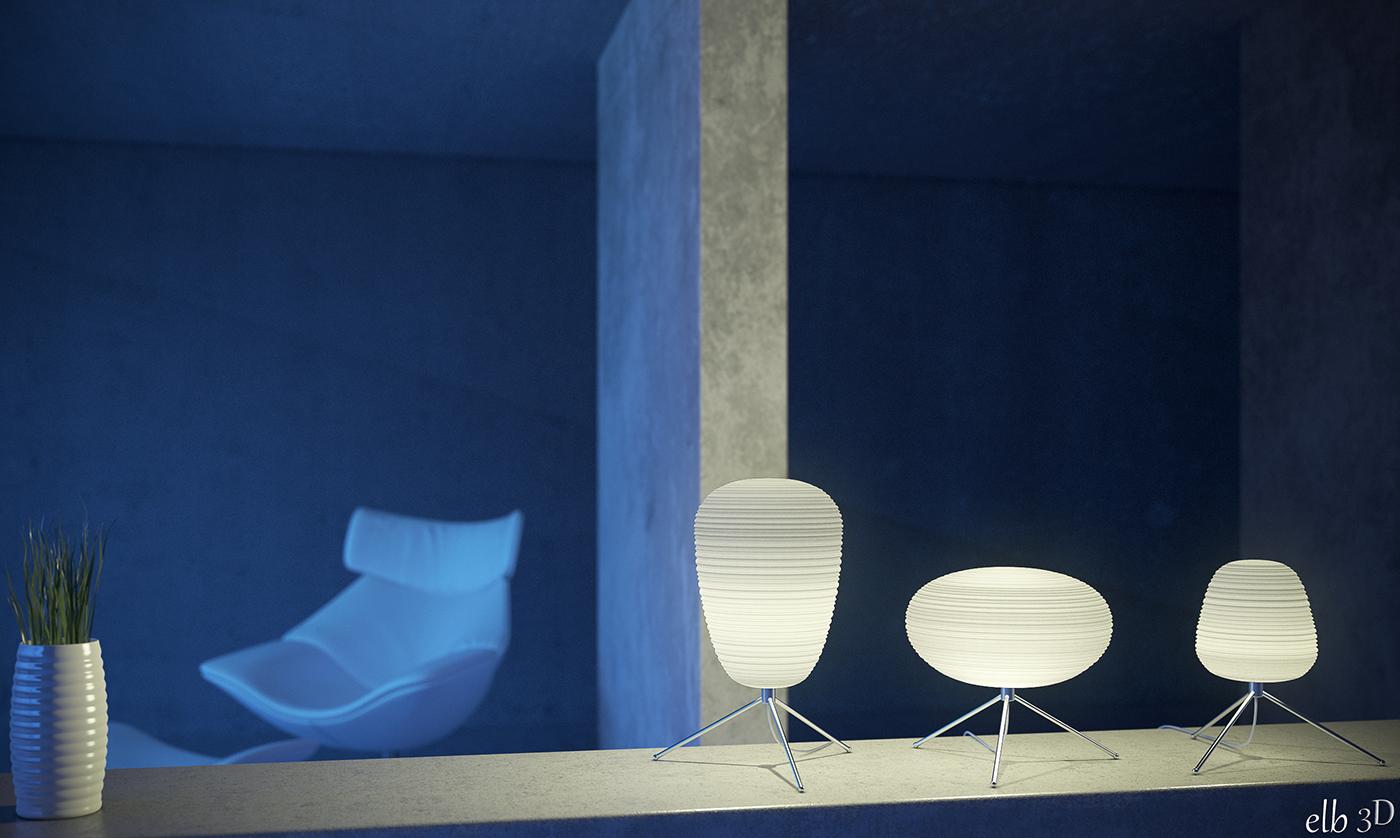 luminaire en papier web elb3d. Black Bedroom Furniture Sets. Home Design Ideas