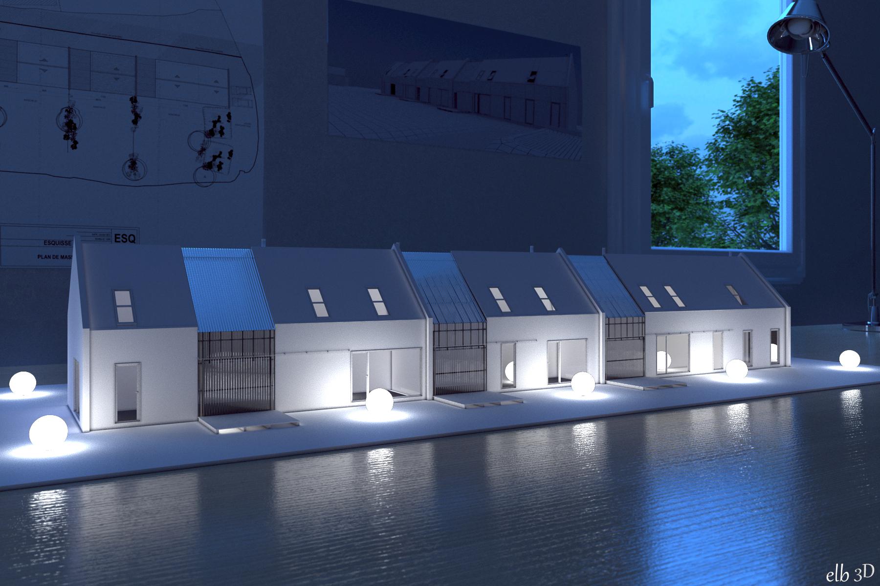 projet pour j e architecte et lc1 architecte elb3d. Black Bedroom Furniture Sets. Home Design Ideas